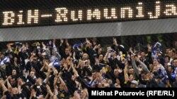 Navijači na utakmici u kojoj je BiH savladala Rumuniju sa 2:1, 26. mart 2011