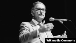 Mexican author Carlos Fuentes in an undated photo
