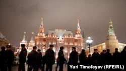 ОМОН на Манежной площади. Москва, 11 января 2011