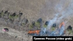 Машина пожарных и отжиги, перешедшие в природные пожары