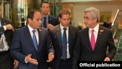 Встреча президентов Армении и Египта в Москве, 9 мая 2015 г․