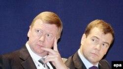 """Анатолий Чубайс (слева) к президентским реформам готов: """"Хоть горшком назови..."""""""