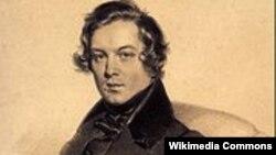 Robert Schumann, litografie 1839