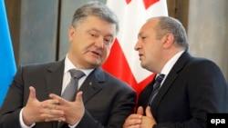 Президент Украины Петр Порошенко и президент Грузии Георгий Маргвелашвили 18 июля в Тбилиси.