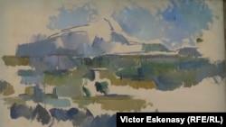 Cezanne, Muntele Sainte-Victoire (detaliu), Folkwang Museum, Essen