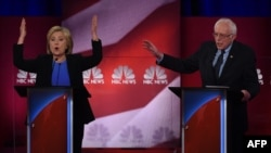 Democratic presidential candidates Hillary Clinton and Bernie Sanders sparred over Iran and Russia in a February 4 debate.