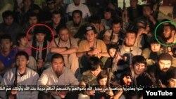 «Джихадисты из Казахстана в Сирии». Кадр с сайта YouТube. Время, место и авторство съемки неизвестно.