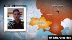 Маршрут російських військових до Іловайська, згідно з інформацією із соціальних мереж