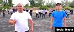 Снимок с видеообращения к президенту КР друзей Эмилбека Кимсанова.