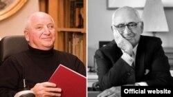 رابرت استرن (راست) و مایکل گریوز، طراح و معماران آمریکایی.