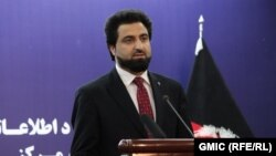 Afghan Interior Ministry spokesman Nusrat Rahimi says five Taliban militants stormed a hotel in Badghis Province.