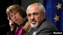Catherine Ashton və Javad Zarif