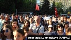 Саратовский митинг собрал больше тысячи человек