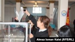 Kyrgyzstan -- Election of the President. Kyrgyzstan. Bishkek. October 30, 2011