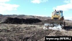 Строительство дороги на горе Клеменьтева