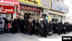 صف طولانی مردم در شیراز برای خرید مرغ به نرخ دولتی