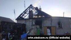 Сгоревший дом в Раздольненском районе