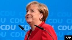 Գերմանիա - Կանցլեր Անգելա Մերկելը Բեռլինում ասուլիսի ժամանակ, 20-ը նոյեմբերի, 2016թ․