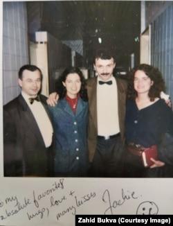 Zahid Bukva (left) stands next to CNN correspondent Jackie Shymanski in Sarajevo.