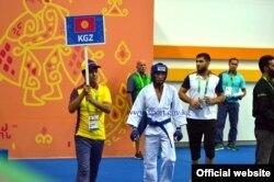 V Азиатские игры в закрытых помещениях, представитель команды по джиу-джитсу из Киргизии