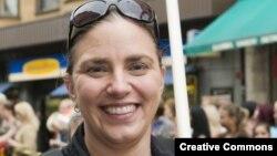Swedish Pirate Party head Anna Troberg