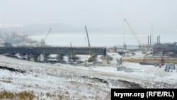 На месте строительства Керченского моста