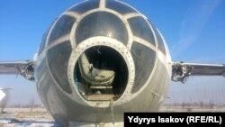 Тумшугу түшүп калган Як-40.
