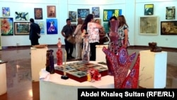 جانب من معرض فنانان كردستان