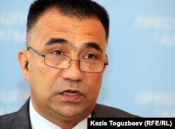"""Лидер общественной организации """"Желтоксан"""" Нурлыбек Куанбаев."""