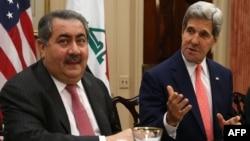 Вчера во Вашингтон се сретнаа американскиот државен секретар Џон Кери и ирачкиот министер за надворешни работи Хошјар Зебари.