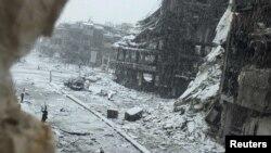Один із районів Хомса, фото 9 січня 2013 року
