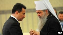Премиерот Никола Груевски, поглаварот на македонската православна црква Г Г Стефан.