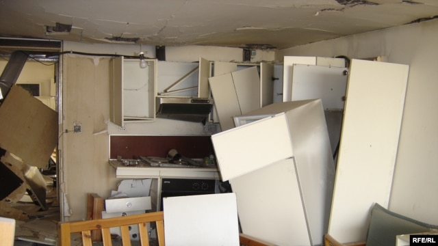 Iraq -- Blast In Baghdad Severely Damages RFE/RL's Baghdad Bureau, November 18, 2005.