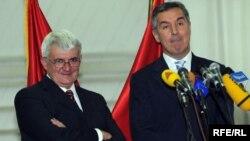 Ljubiša Krgović i Milo Đukanović, 2010. foto: Savo Prelević