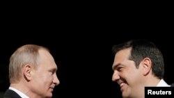 Predsjednik Rusije Vladimir Putin i premijer Grčke Aleksis Cipras