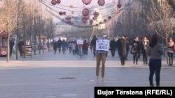 Aktivitet në Prishtinë kundër ndotjes së ajrit,2016