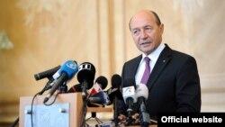 Romanian President Traian Basescu (pictured) has a secret plan to annex Moldova, says Russian Deputy Prime Minister Dmitry Rogozin.