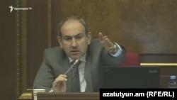 Глава фракции «Елк» Никол Пашинян, Ереван, 7 марта 2018 г.