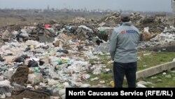 Мусор в Ногире, Пригородный район Северной Осетии