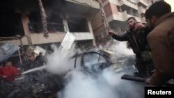 Взрыв автомобиля в Ливане.