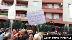 Протест пред МВР за случувањата во населбата Бутел.