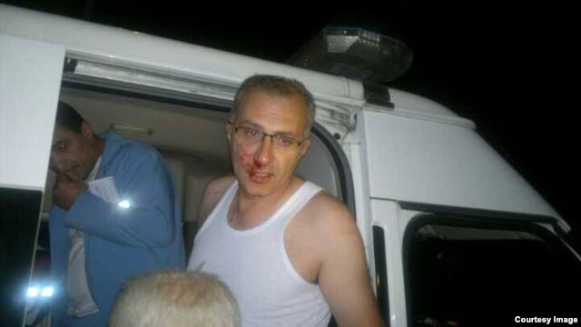 Armenia -- Civil activist Haykak Arshamian is hospitalized after being attacked in Yerevan, 5Sep2013