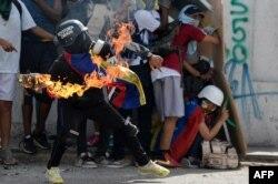 Молодежные протесты в Каракасе. 9 июля 2017 года