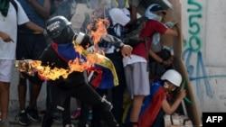 Акция протеста в Венесуэле. Иллюстративное фото.