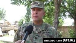 Генерал-адъютант Национальной гвардии американского штата Канзас, генерал-майор Ли Тафанели, Армения, 27 июля 2017 г.