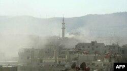 Tymi mbi Damask pas raportimeve për hedhje gazi toksik nga ana e opozitës.