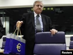 Predsjednik Europske centralne banka Jean-Claude Trichet na sastanku ministara financija eurozone, listopad 2011