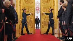 Церемония инаугурации избранного президента России Владимира Путина в Кремле, Москва, 7 мая 2012 г.