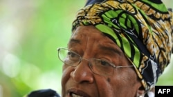 Former Liberian President Ellen Johnson Sirleaf was one of three joint winners of this year's Nobel Peace Prize.