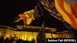 Proteste anti-corupție de dimensiuni reduse la București